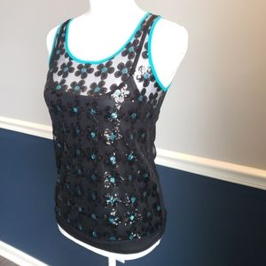 Candie's dressy top; sleeveless sequins design